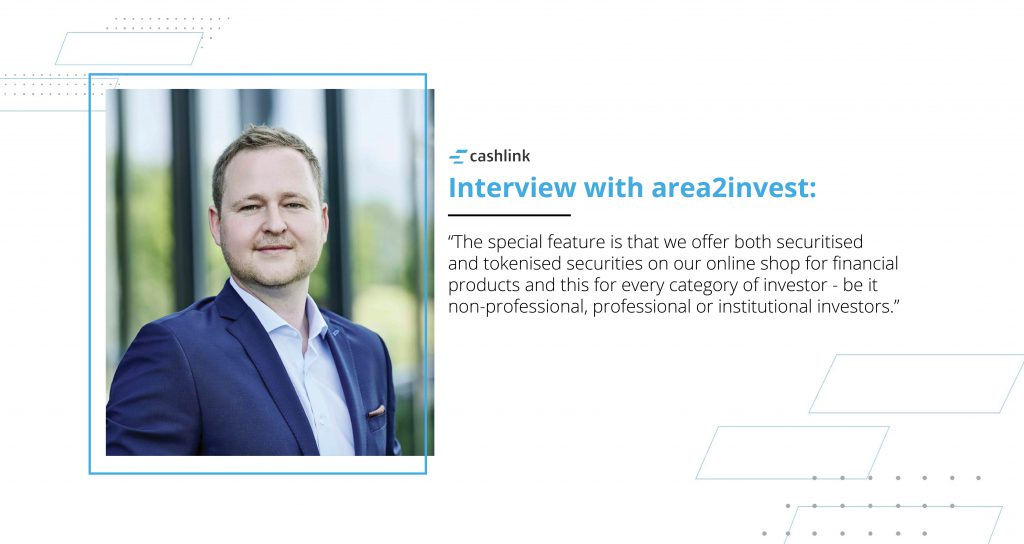 Picture of Max J. Heinzle (area2invest) interviewed by Cashlink