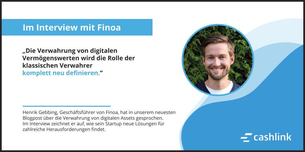 Die Verwahrung digitaler Vermögenswerte: Im Gespräch mit Finoa