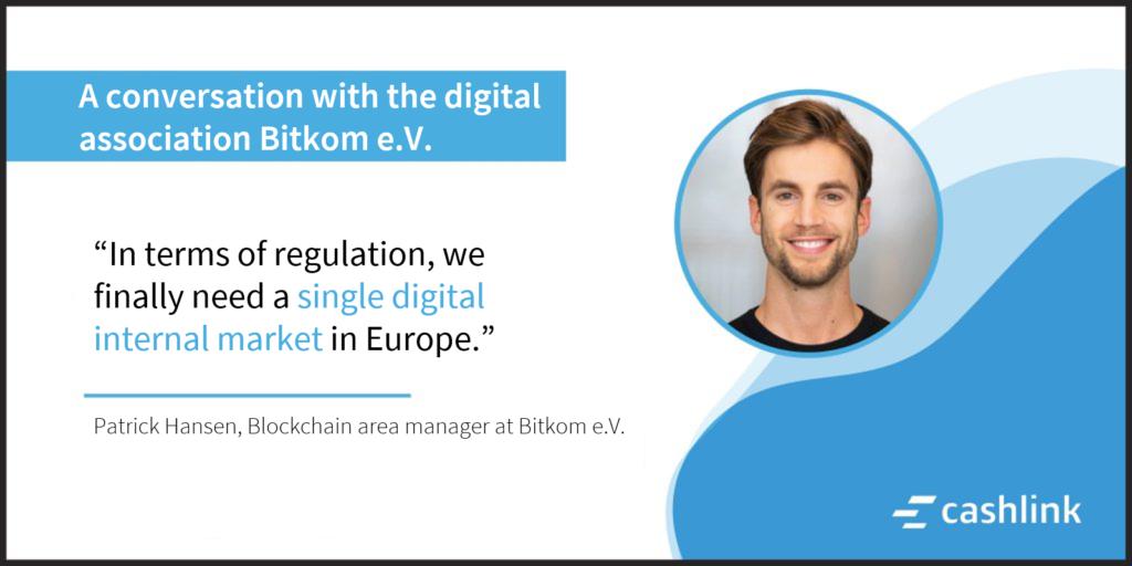 Patrick Hansen (Bitkom e.V.) interviewed by Cashlink