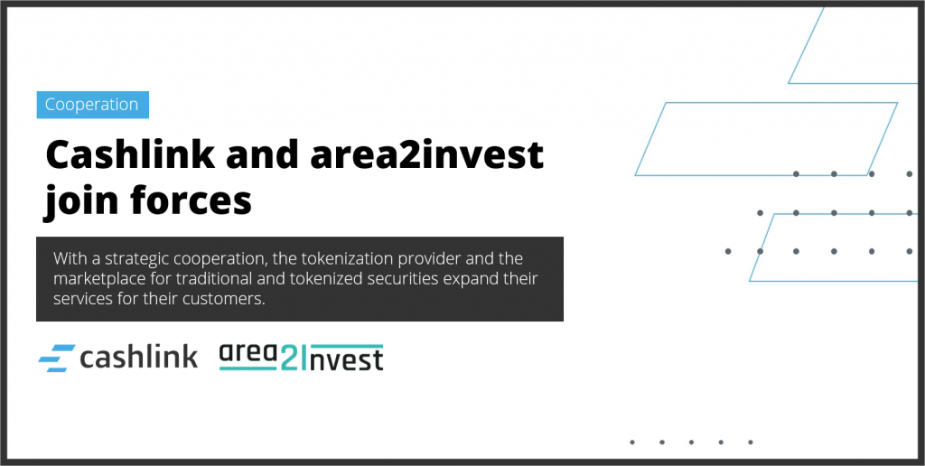 Cashlink and area2invest join forces