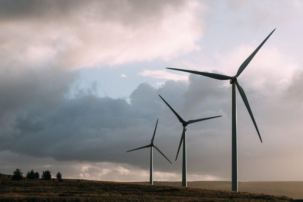 Wind power plant renewable energy